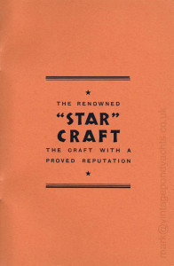 Star Yachts 1935 catalogue - inside back cover